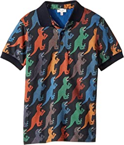 Paul Smith Junior - Dino Print Polo (Big Kids)