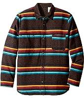 VISSLA Kids - Pennington Long Sleeve Reversible All Over Stripe Flannel (Big Kids)