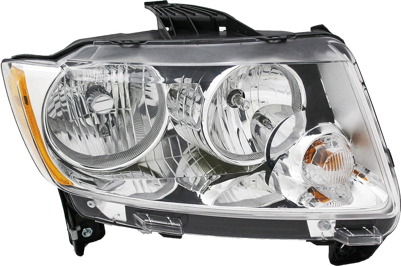 JP Auto Headlight Compatible 超定番 With 現品 Jeep Pa 2012 2013 Compass 2011