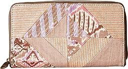 Sakroots Artist Circle Large Zip Around Wallet