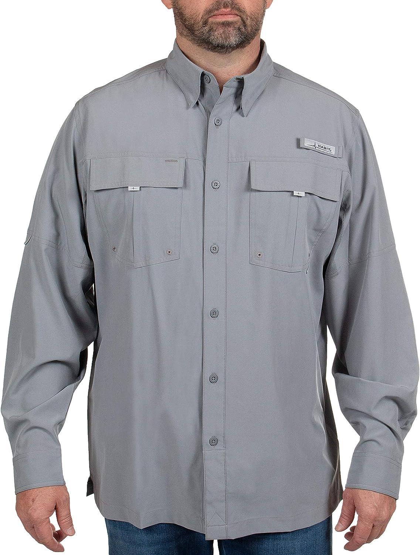 HABIT - Men's Forage Philadelphia Mall River Fishing Sleeve Long Genuine Shirt Guide