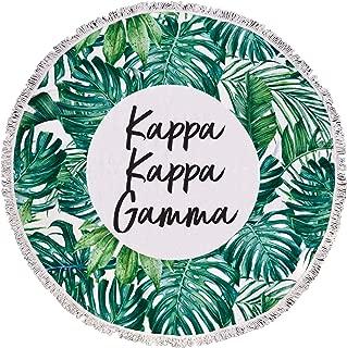 Sorority Shop Kappa Kappa Gamma - Palm Leaf - Fringe Towel - Blanket