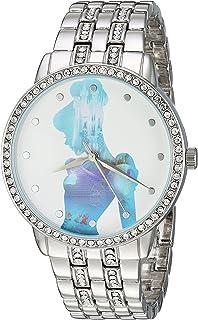 DISNEY Women's Cinderella Analog-Quartz Watch with Alloy Strap, Silver, 20 (Model: WDS000070)