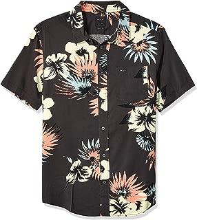 Men's Romeo Floral Short Sleeve Woven Button Front Shirt