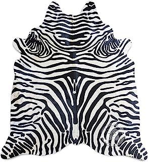 Safari Zebra Black On Off White Cowhide Rug 6ft x 7ft 180 cm x 210cm