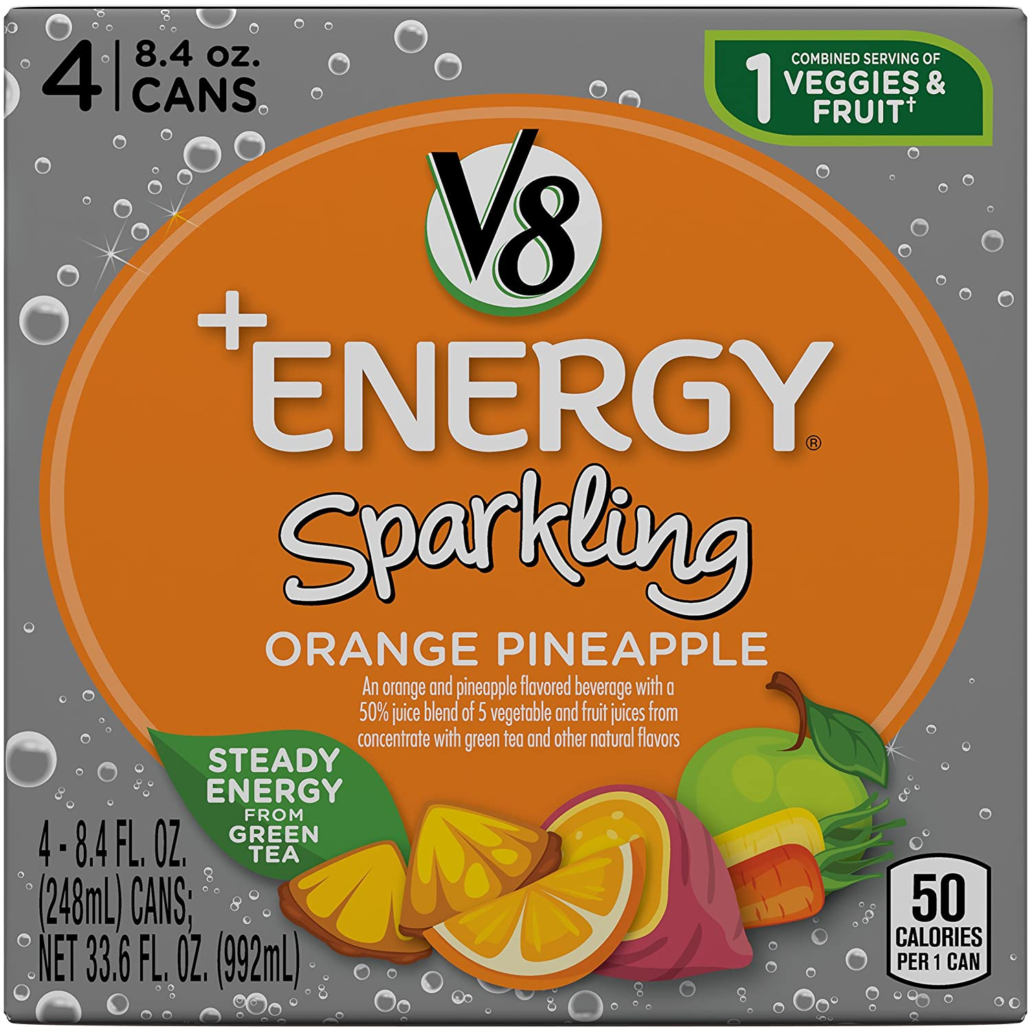 V8 +Energy Sparkling Healthy Energy Regular store T Drink Natural Easy-to-use from