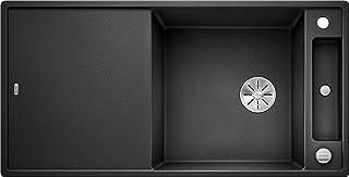 BLANCO Axia III XL 6 S, Küchenspüle aus Silgranit PuraDur, reversibel, Anthrazit-schwarz / mit InFino-Ablaufsystem, inklusiv Glasschneidbrett und Ablauffernbedienung 523510