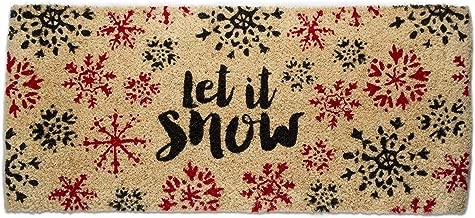 Tag Let It Snow Estate Snowflake Holiday Christmas Xmas Coir Doormat Mat 1 EA Black
