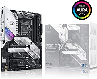 ASUS ROG Strix Z490-A Gaming Z490 LGA 1200(Intel 10th Gen) ATX White Scheme Gaming Motherboard (12+2 Power Stages, DDR4 4600, Intel 2.5 Gb Ethernet, USB 3.2 Gen 2, Aura Sync)