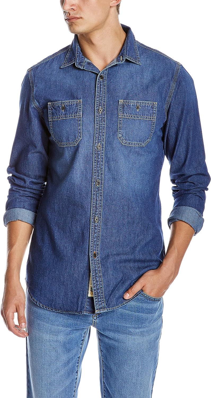 Quality Durables Limited time cheap Daily bargain sale sale Co. Men's Slim Shirt Denim Fit Work