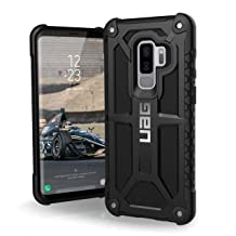 URBAN ARMOR GEAR UAG Designed for Samsung Galaxy S9 Plus [6.2-inch Screen] Monarch Feather-Light Rugged [Black] Military Drop Tested Phone Case