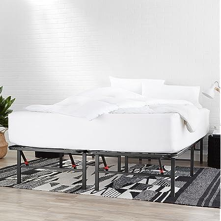 Amazon Basics Cadre de lit pliable - Montage sans outil - Rangement sous le lit - 135 x 190