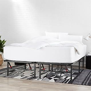 AmazonBasics - Somier fijo plegable, montaje sin herramientas, permite almacenar debajo de la cama, 135 x 190 cm