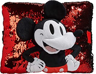 Pillow Pets Disney 90th Anniversary Red Sequin Mickey Mouse Stuffed Animal Plush Toy