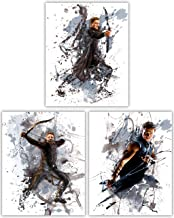 Hawkeye Wall Decor Collection - Jeremy Renner as The Classic Avenger in our Wall Art Movie Poster Series - Set of 3 8x10 Photos
