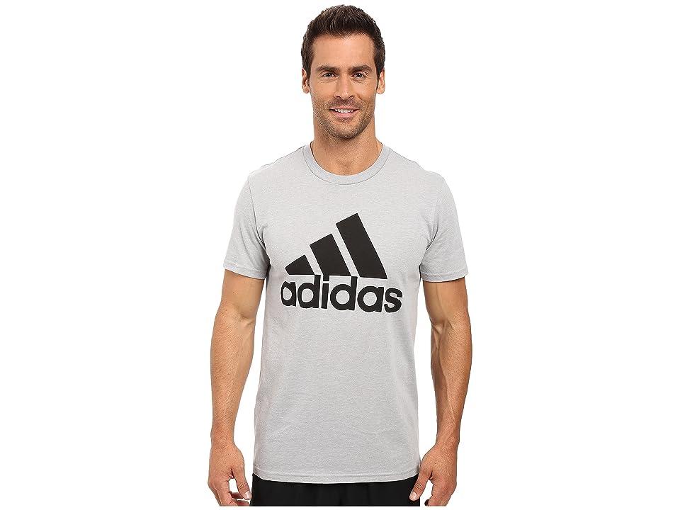 adidas Badge of Sport Classic Tee (Medium Grey Heather/Black) Men's T Shirt