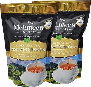 McEntee's Irish Afternoon Loose Tea (pak van 2) - zakken van 250 g - GEMENGD IN IERLAND, CITRUSY, BRISK & FUL BODIED. Een ...