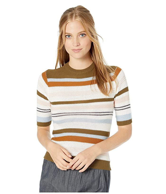 Women's 70s Shirts, Blouses, Hippie Tops RVCA Nora Striped Knit Sweater Multi Womens Sweater $42.99 AT vintagedancer.com