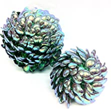 MG Decor Madhus Collection Sequin Burst Baubles, 5-inch/ 3-inch, Set of 2