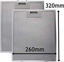 SPARES2GO Campana Antigrasa Filtro (Plata, 320 x 260mm) (