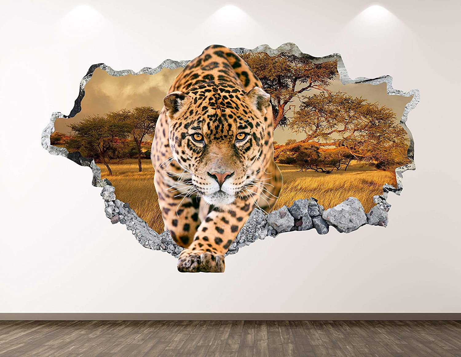 West Mountain Cheetah Wall Decal Art Sti Smashed Safety and trust Decor 3D Animal Shipping included