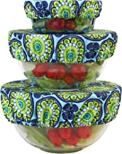Wegreeco Reusable Bowl Covers - Set of 3,Funky Flower