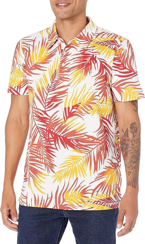 28 Palms Men's Relaxed-Fit Performance Print Piq 販売実績No.1 Cotton 直営店 Tropical