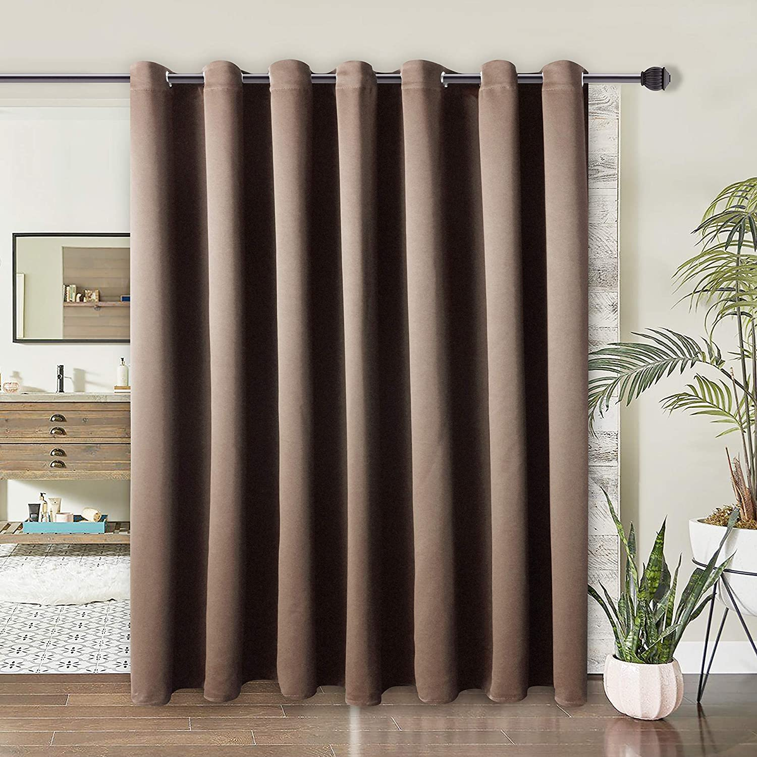 WONTEX 有名な Room Divider Curtain- Privacy Curtains お見舞い Bedr Blackout for
