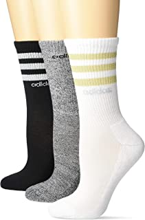 adidas womens 3-Stripe Crew Socks (3-Pair)