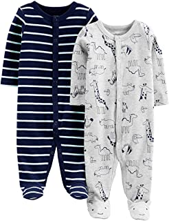 c5dcd5211c65 Amazon.com  0-3 mo. - Footies   Rompers   Clothing  Clothing