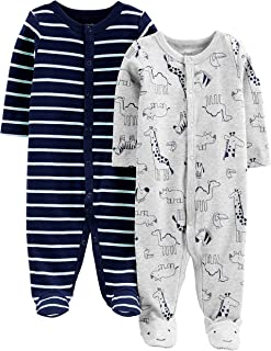 Simple Joys by Carter's Baby Boys' 2-Pack Cotton Snap Footed Sleep and Play