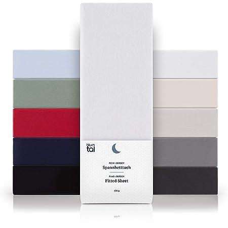Blumtal - Drap Housse 140x200 Coton (x2) - Drap Housse Jersey 140x200 cm - 100% Coton - Jusqu'à 25cm De Hauteur - Blanc