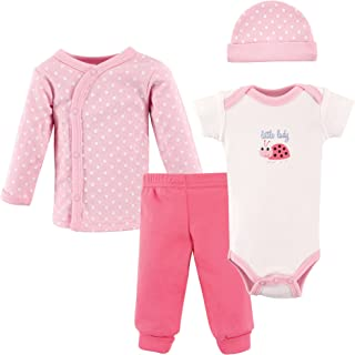 Luvable Friends Baby Girls' Preemie Layette Set, 4-Piece