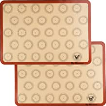 "Silicone Macaron Baking Mat – Set of 2 Half Sheet (Thick & Large 11 5/8"" x.."