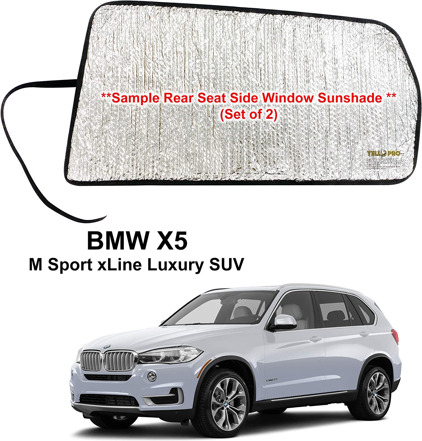 YelloPro Auto Gorgeous Side Window Weekly update Rear Seat for Custom Fit Sunshade 2014