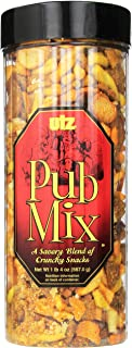 Utz Pub Mix - 20 Ounce Barrel - Savory Snack Mix, Blend of Crunchy Flavors for a Tasty Party Snack - Resealable Container ...