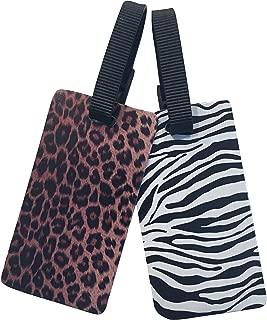 Luggage ID Tags - 2-pack (Zebra & Leopard Print)