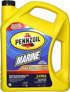 Pennzoil 550022757 Premium Plus Outboard 2-Cycle Marine Engine Oil - 1 Gallon