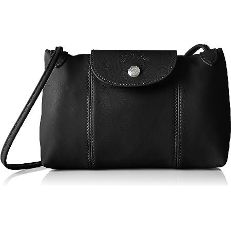 Longchamp Le Pliage Cuir Crossbody Bag Black One Size