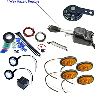 UTV Heavy Duty Lever Turn Signal Kit with Horn and Hardware Kit (Oval: 4 Amber)