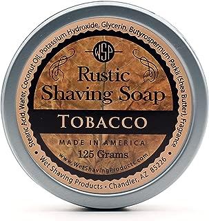 WSP Rustic Shaving Soap (Tobacco) 4.4 Oz in Tin Artisan Made in America Using Vegan Natural Ingredients