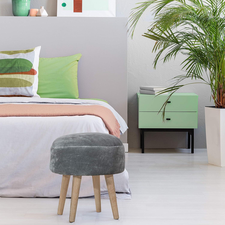 Hillsdale Max 77% OFF Mila Regular dealer Upholstered Backless Gray Pouf Vanity Stool