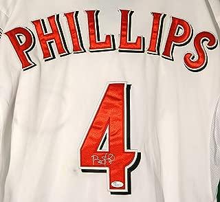 Brandon Phillips Cincinnati Reds Signed Autographed White #4 Jersey JSA COA