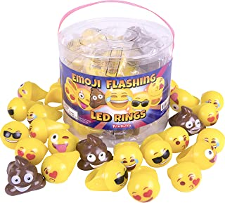 Emoji Universe: Emoji LED Rings, 24 Pack