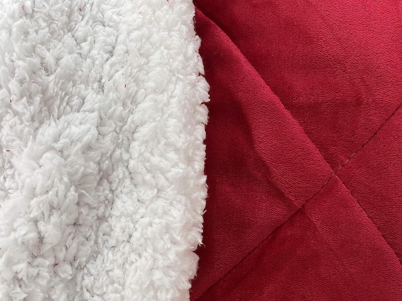 Eurostyle - Couvre-lit matelassé en flanelle de flanelle XIWO - 220 x 240 cm - Rembourré souple - Bleu Rouge