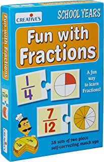 Creative Educational School Fun with Fractions - 6 Years and Above