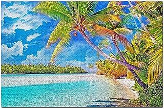 Rarotonga Cooköarna Pussel 1000 bitars spelkonst Resesouvenir Träen
