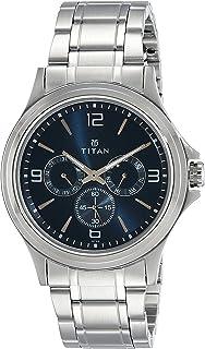 Titan Men's Contemporary Chronograph/Multi Function Work Wear,Quartz,Analog, Water Resistant Wrist Watch