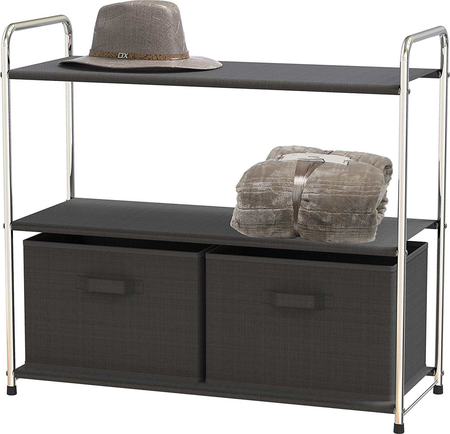 Simple Recommended Houseware 3-Tier Closet Storage with Grey Drawers 2 Kansas City Mall Dark
