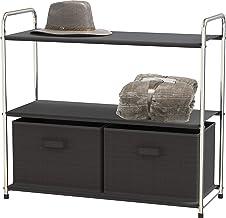 Simple Houseware 3-Tier Closet Storage with 2 Drawers Dark Gray